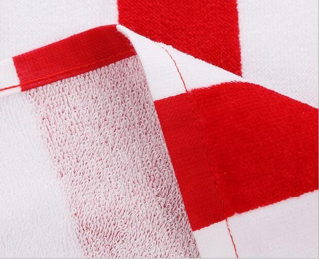 2016 4 couleur 70 * 140CM USA ROYAUME-UNI drapeau EUROS Unisex coton rayé imprimé beah serviettes de bain serviette de douche Douche Gym Fitness Camping Serviette