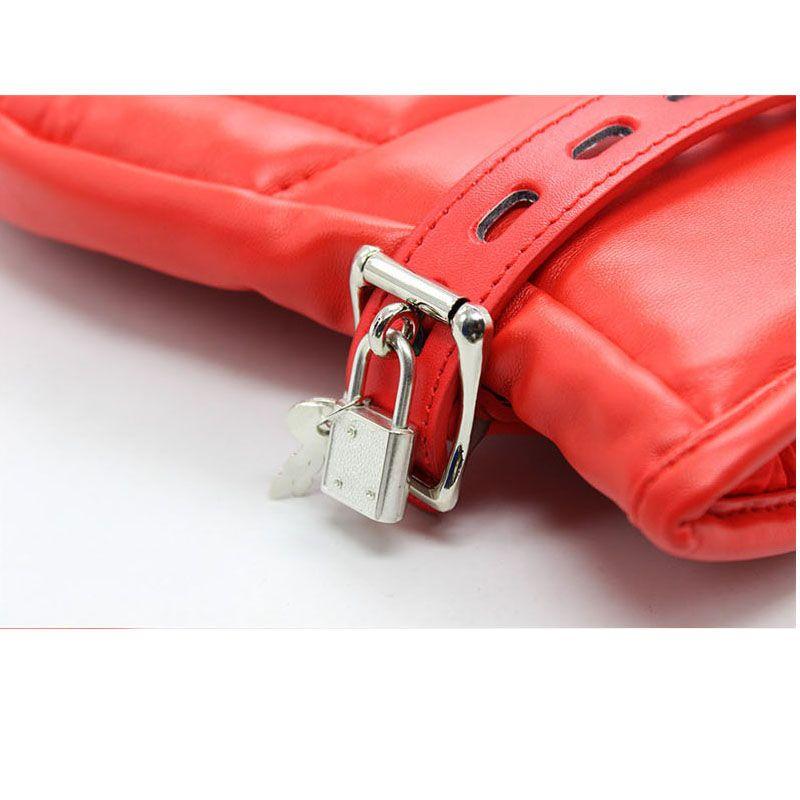 LZYAA Adult Game Locking Goth Gepolsterte Handschuhe Hund Pfote Palm Leder Bondage Fesseln Sexspielzeug Für frauen männer Produkte