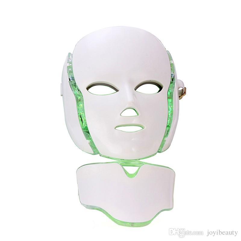 Dhl-freies verschiffen 7 farben photon pdt led hautpflege gesichtsmaske blau grün rot lichttherapie schönheit geräte