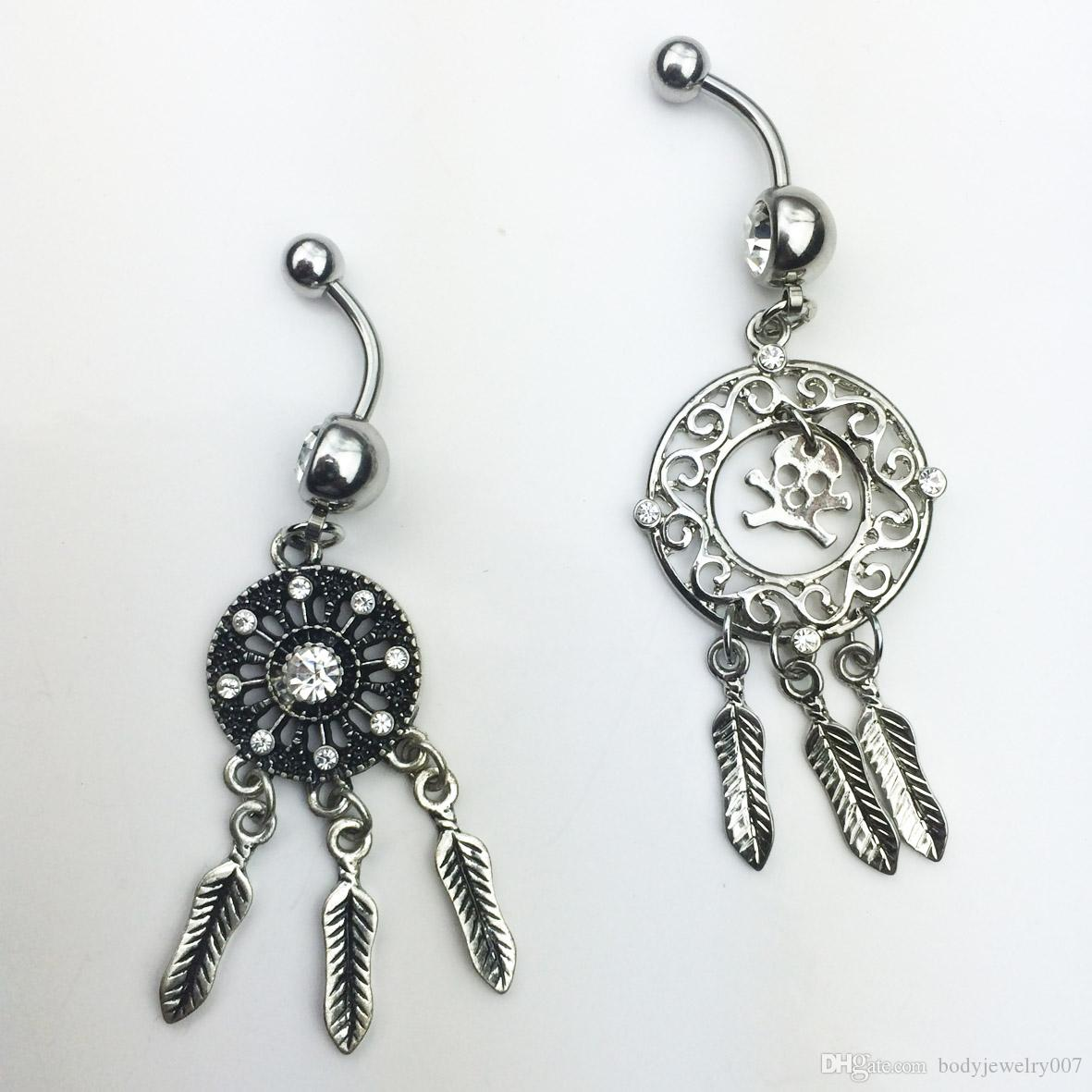 D0646   Dream Catcher belly ring piercing body jewelry stainless steel Belly Button Rings Body Navel Piercing Jewelry