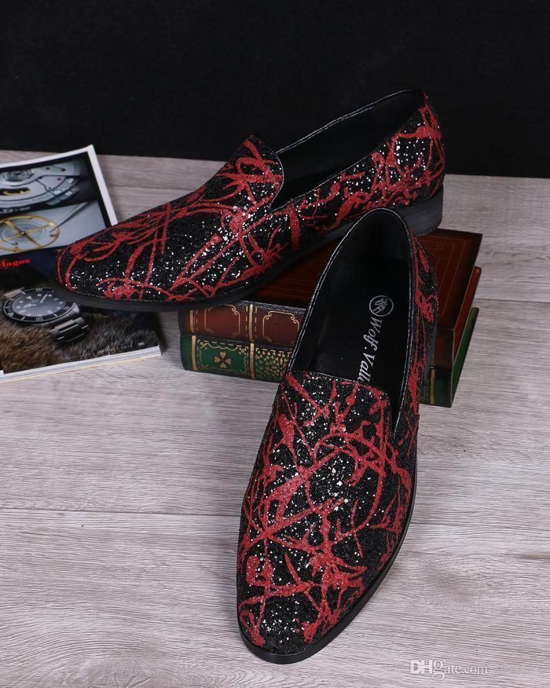 Mode Hommes Affaires Loisir Mocassins Chaussures Designer Britannique Rouge Slip Sur Chaussures En Cuir Pour Hommes Chaussures Plates Casual 38-46