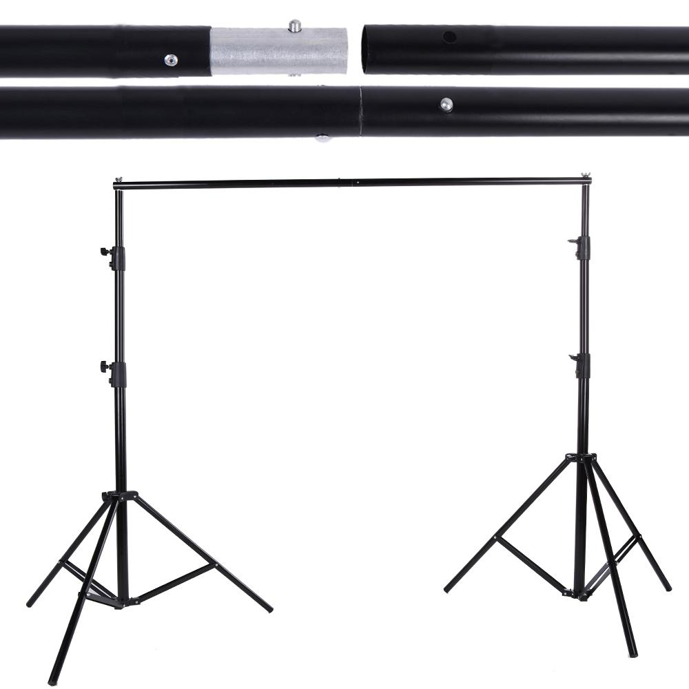 Wholesale- DE STOCK 2 8 * 3m Adjustable Backdrop Stand Crossbar Kit Set  Photography Background Support System for Muslins Backdrop