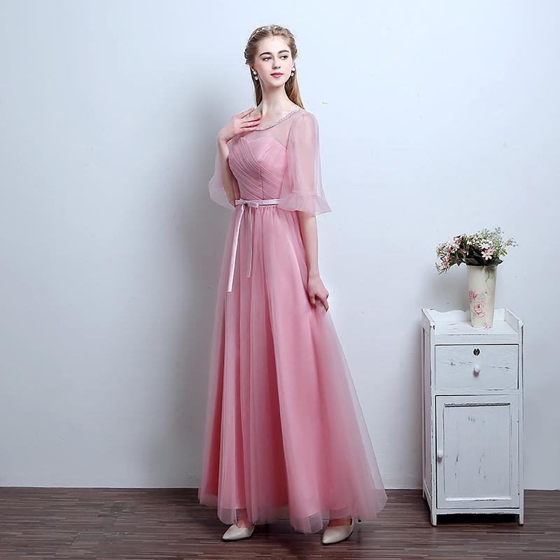 Compre Robe De Soirée De La Nueva Manera Dulce De Color Rosa ...