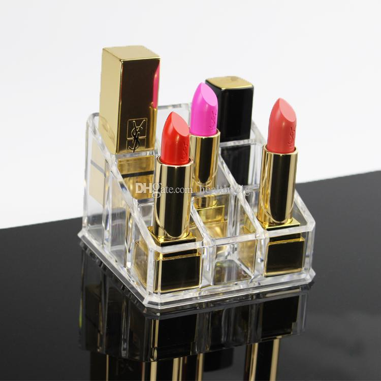 Clear Acrylic Cosmetic Organizer Makeup Lipstick Storage Display Stand Case Rack Holder+gift