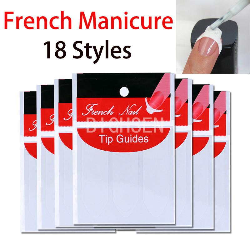 Wholesale 1 Pack French Style Nail Art Sticker French Manicure Nail ...
