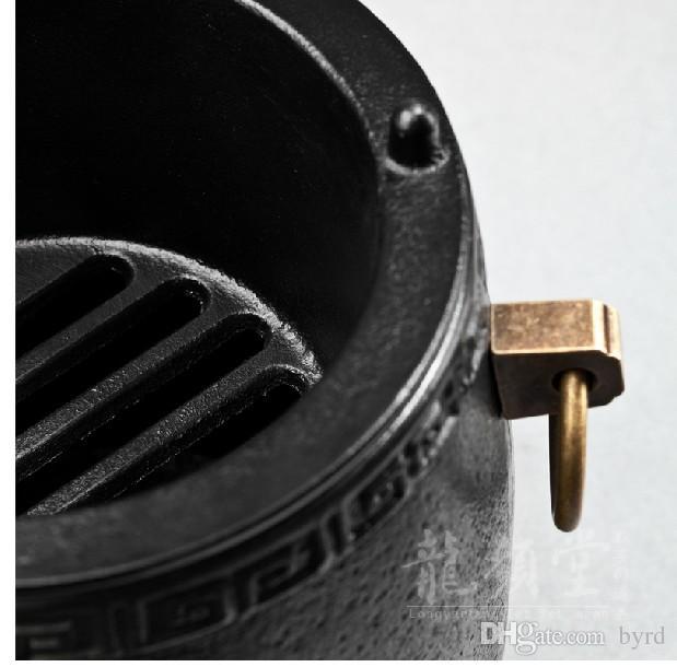 portable Cast iron charcoal stove iron pot mini stove 14.5*15 cm Outdoor picnic garden bbq home heating furnace 003