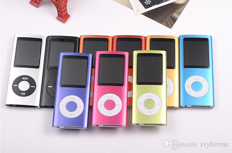 New 9 Colors FM Video 4TH Gen MP3 MP4 Player Music Player 3th 1.8' lcd mp4 Free Shipping 8GB/16GB/32GB