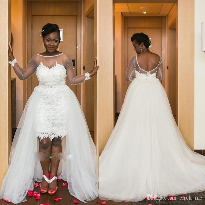 Großhandel Südafrika Hochauflösende Hochzeits Kleider Mit Bloßem ...