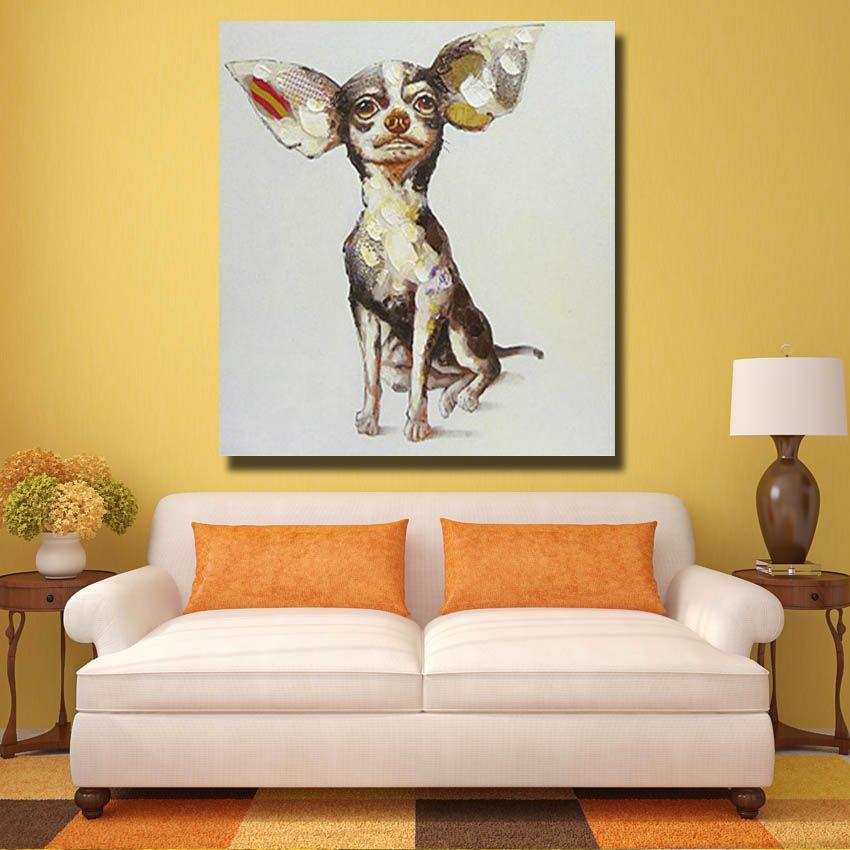 Pittura a olio cinese Immagini animali Modern Canvas Wall Art Home Decor Living Room Immagini a parete 1 Peices Pop Art Senza cornice