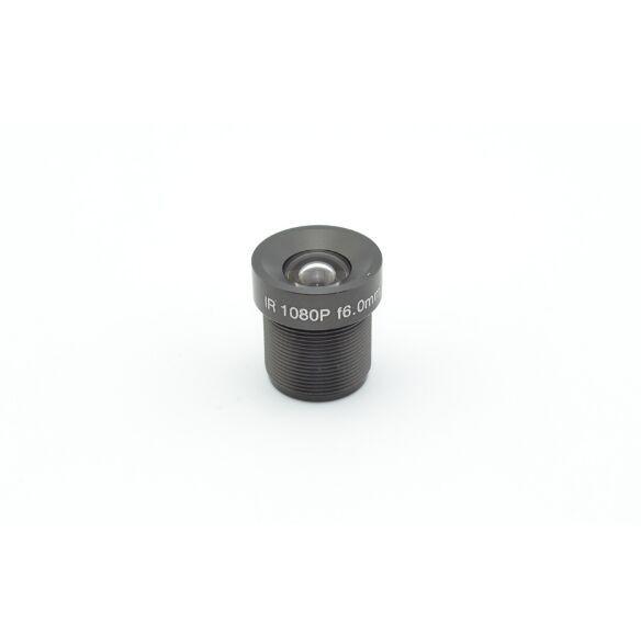 Objectif CCTV 2MP 1080P 3.6mm / 6mm en option pour caméra de vidéosurveillance HD Full HD pour caméra 1080p IP M12 * 0.5 MTV Mount