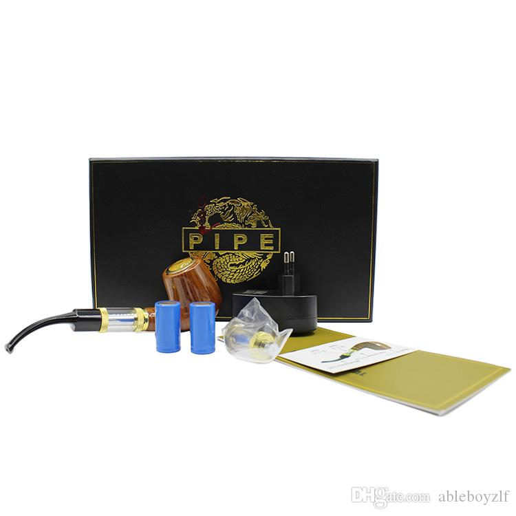 EGO E-Pipe Electronic Cigarette Kit E-pipe 618 With Gift Package Set 2.5ml No Cotton Wick Atomizer 18650 900mAh Detachable Battery