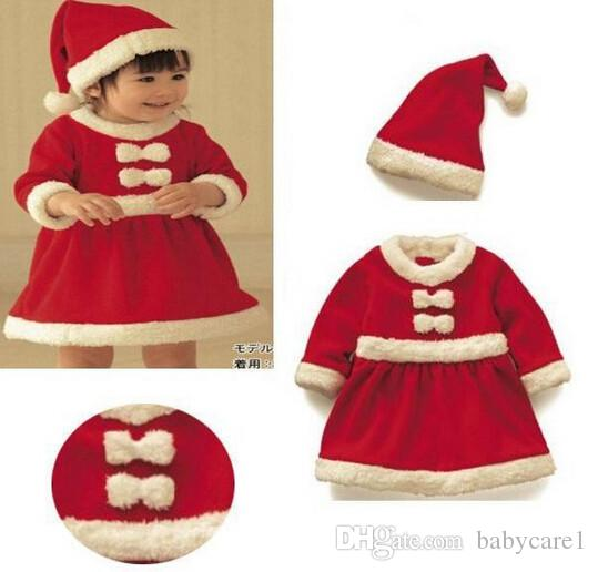 ed2b907c6b3d 2019 New Baby Newborn Boys Girls Christmas Santa Claus Bebe Fleece ...