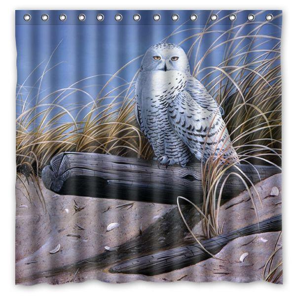 2018 Art Bird Owl Sand Logs Dry Grass Design Shower Curtain Size 180 X Cm Custom Waterproof Polyester Fabric Bath Curtains From Littemanthree