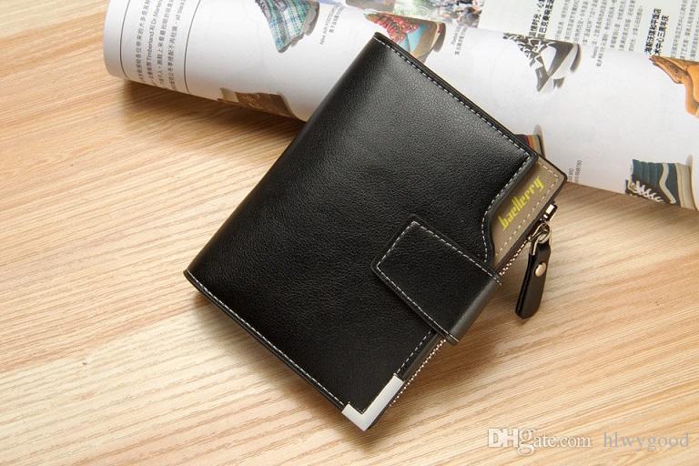 Baellerry versão da carteira dos homens casuais uma carteira multifuncional com um zíper e um bolso triplo