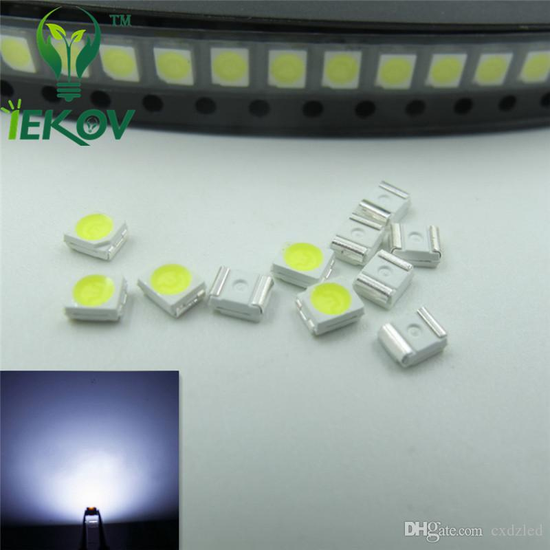 1210 3528 PLCC-2 White LED SMD highlight light-emitting diodes 5500-6500K High quality SMD/SMT Chip lamp beads Wholesale