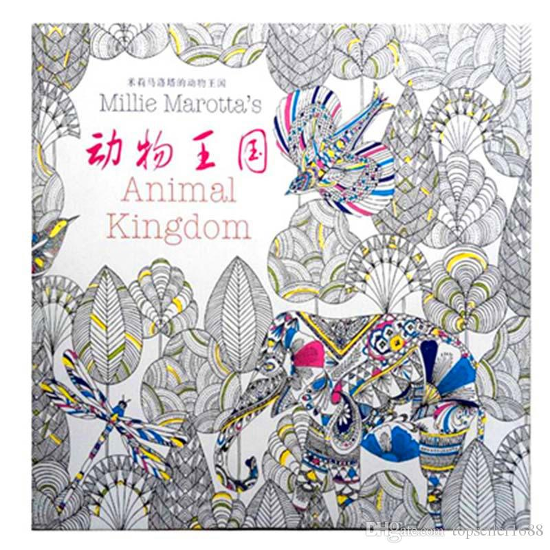 2016 Prettybaby Secret Garden Coloring Book Painting Drawing 96 Pages Animal Kingdom Enchanted Forest Relieve Stress For Children Adult Colouring