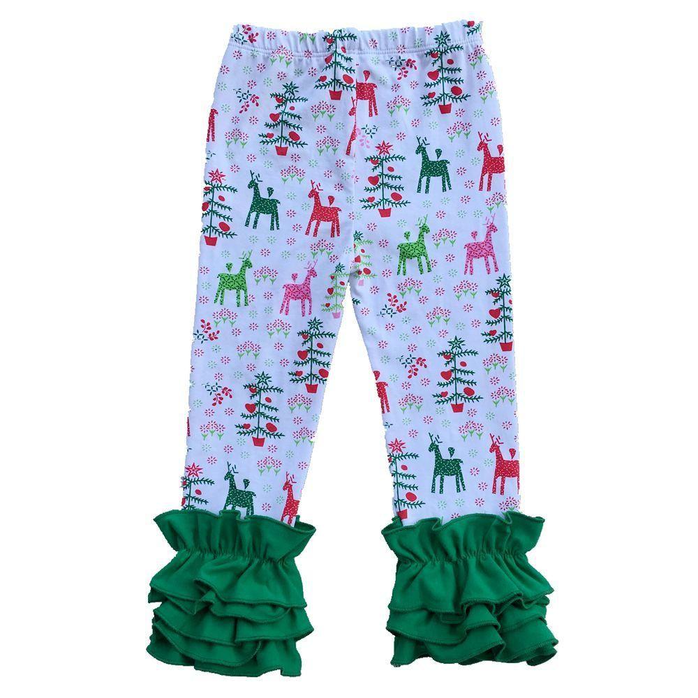 Cadılar bayramı Noel Pamuk Saf Renk Bebek Tozluk Yumuşak Çocuklar Kız Pantolon Kız Moda Şerit Fırfır Pantolon Tayt Kapriler 28 renkler