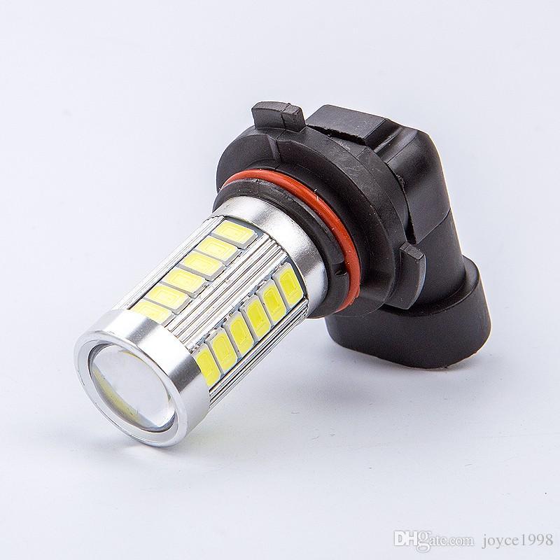 Araba 9006 HB4 9005 HB3 H4 H7 H11 H8 5630 33SMD LED Gündüz Çalışan Işık Araba Fren Lambaları Kuyruk Lambaları