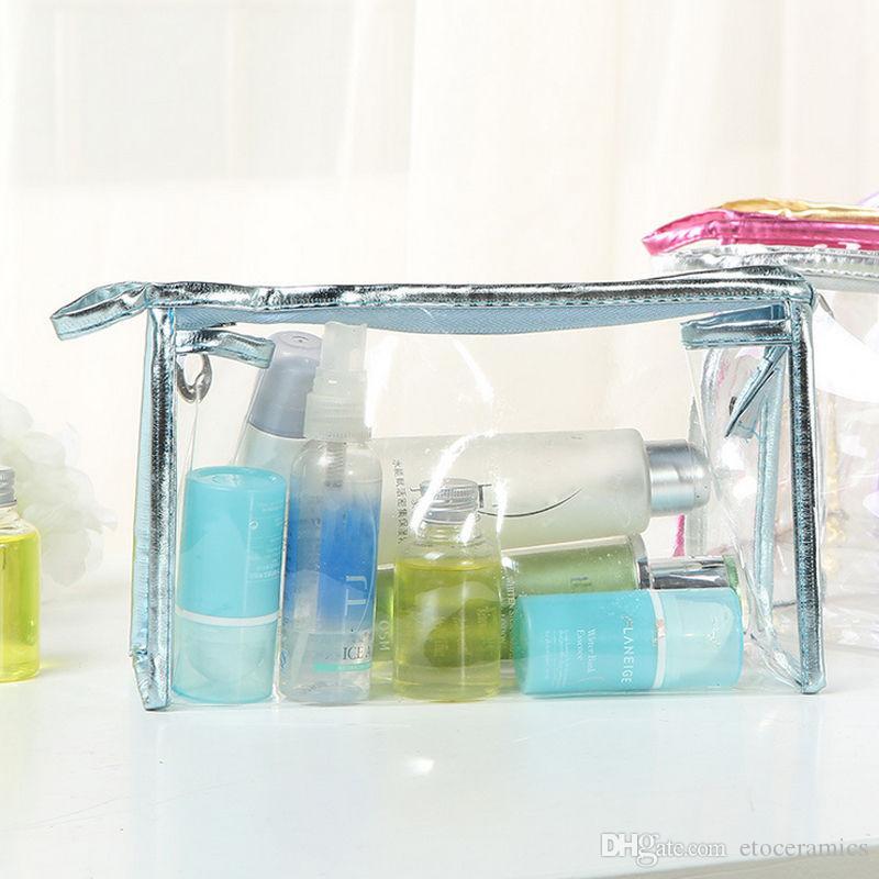 Klare transparente Plastik-PVC-Reise-Kosmetik bilden Kulturbeutel-Reißverschlusskosmetiktasche