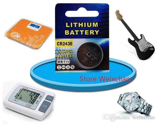 1 개 CR2430 3V 리튬 이온 버튼 셀 배터리 CR 2430 리튬 이온 배터리 3 개 리튬 이온 배터리 무료 배송