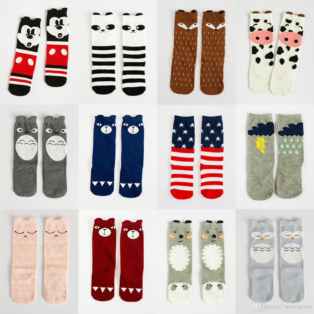 92 Patterns Girl Knee Socks Kids Warm Leggings Baby Legwarmers Fox
