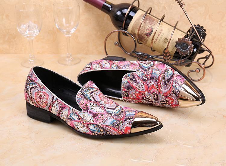 Neue Ankunft Italienischen Stil Mode Männer Metallkappe Casual Dress Schuhe Aus Echtem Leder Männer Wohnungen Hochzeit Schuh EU Größe 38-46