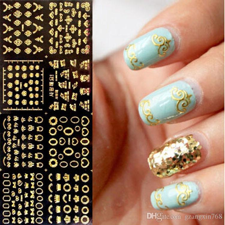 3d Nail Art Sticker 102 Designs Golden/Silver High Quality New ...