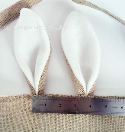 Cotton lona de linho Ovo de Páscoa Saco do coelho de coelho da orelha de compras bolsas para crianças crianças de presente juta sacos de pano bolsa festiva fornecimentos