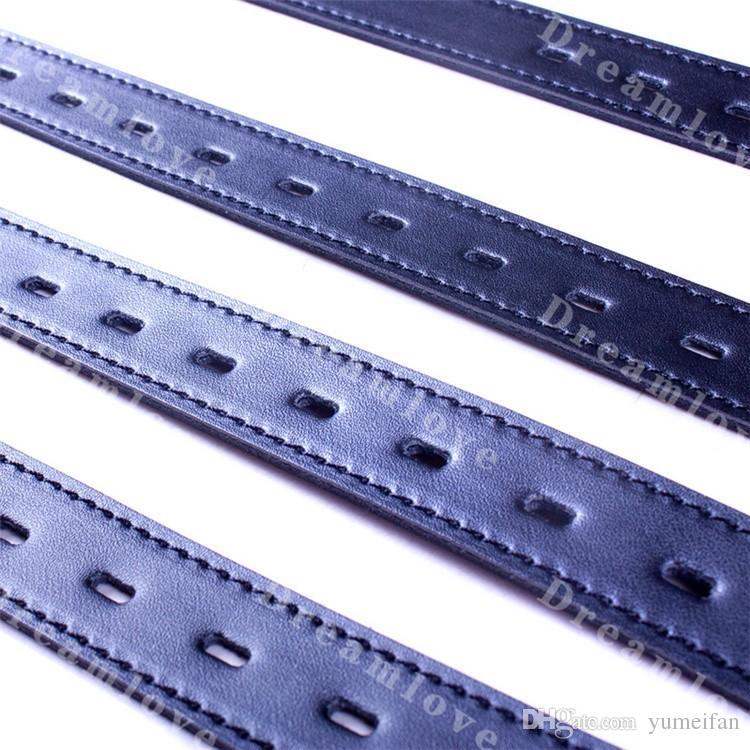 Correas clásicas de Bondage de cuero con hebillas bloqueables 7 tamaños de hebillas de bloqueo Sex Bondage Gear para hombres y mujeres unisex