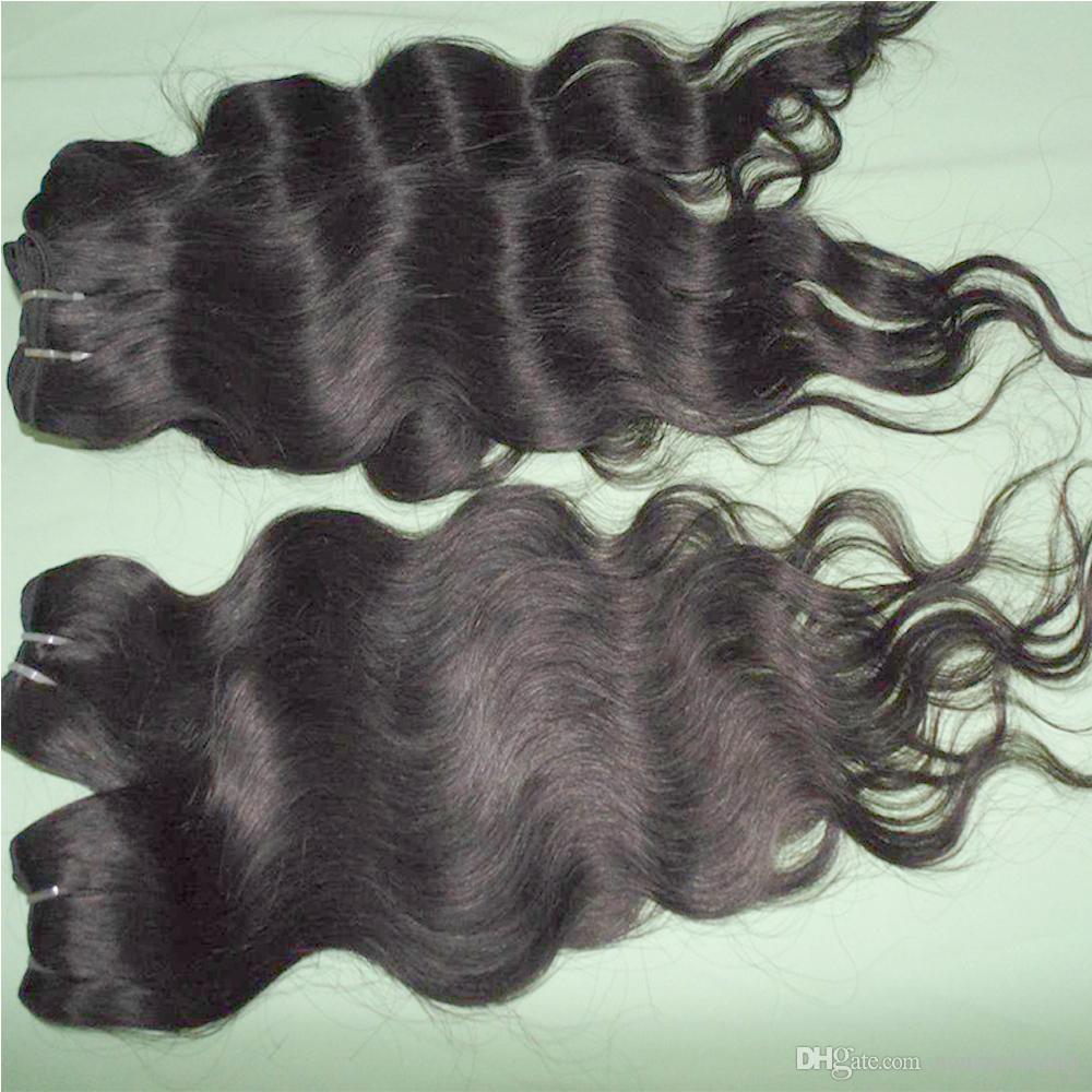Toptan Fiyat Ucuz İşlenmiş İnsan Saç Yumuşak Brezilyalı Vücut Dalga Örgü 20 adet / grup Sponsor Üst Satıcı
