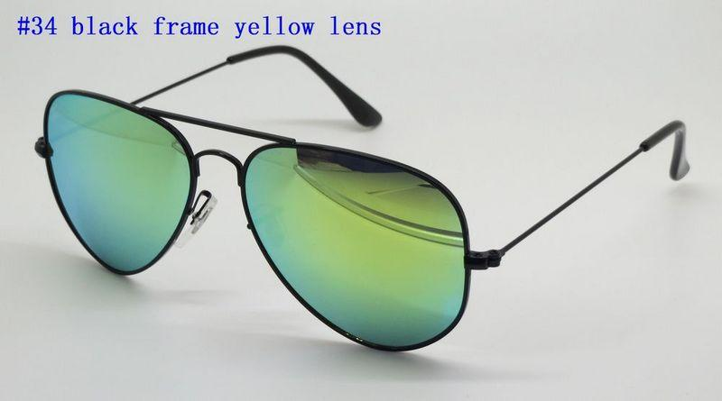 High Quality Mens Womens Sunglasses Pilot Sun Glasses Gold Frame Colorful Flash Pink Mirror Glass Lenses Better Brown Cases