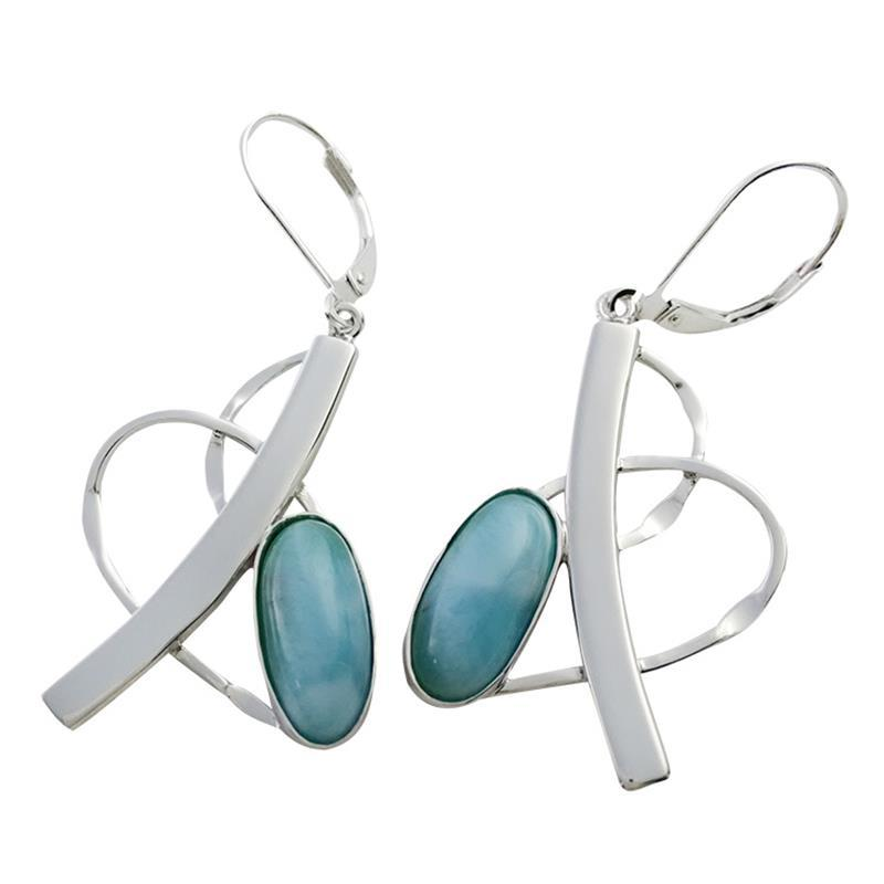 jewelry earrings marahlago logo larimar ml designer pear