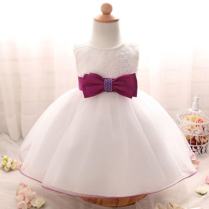 c3f7737f76 Wholesale- Newborn Girls Clothes Christening infant kids Dress Baby Girl  clothing tutu Dress Wedding 1 year birthday party Princess dress