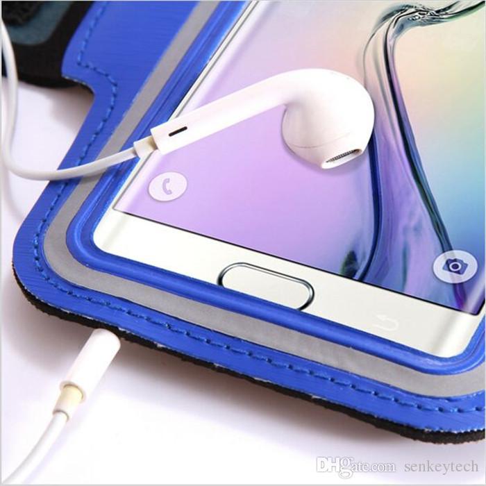 Für samsung s6 iphone einstellbare sport gym armband tasche case 11 farben wasserdicht jogging arm band handy gürtel abdeckung