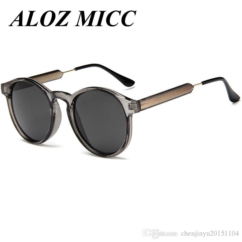 fc964acd1b686 Compre ALOZ MICC Luxury Vintage Mujeres Cat Eye Sunglasses Hombres  Diseñador De La Marca Ronda Sunglass Mujer Puntos Gafas De Sol Mujeres  Hombres Señoras ...