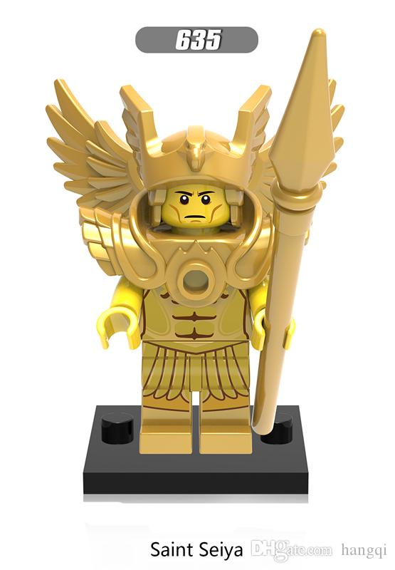 X0163 Super Hero Marvel Saint seiya Aborigines Hun Warrior Ares Athena Evil Keight Chief Building Blocks Baby Toys