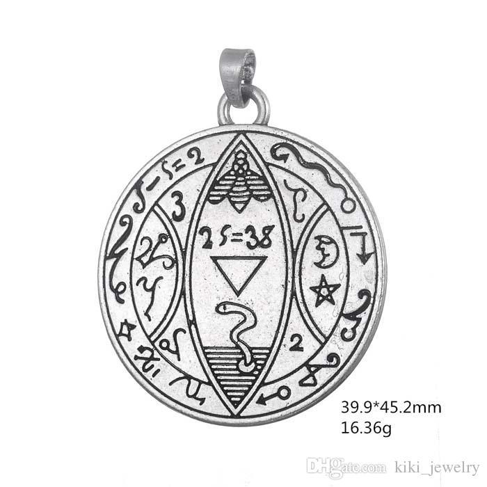 Mon pendentif forme bijoux lune et les étoiles grec ancien religieux graver pendentif mot pour les colliers bracelets et boucles d'oreilles