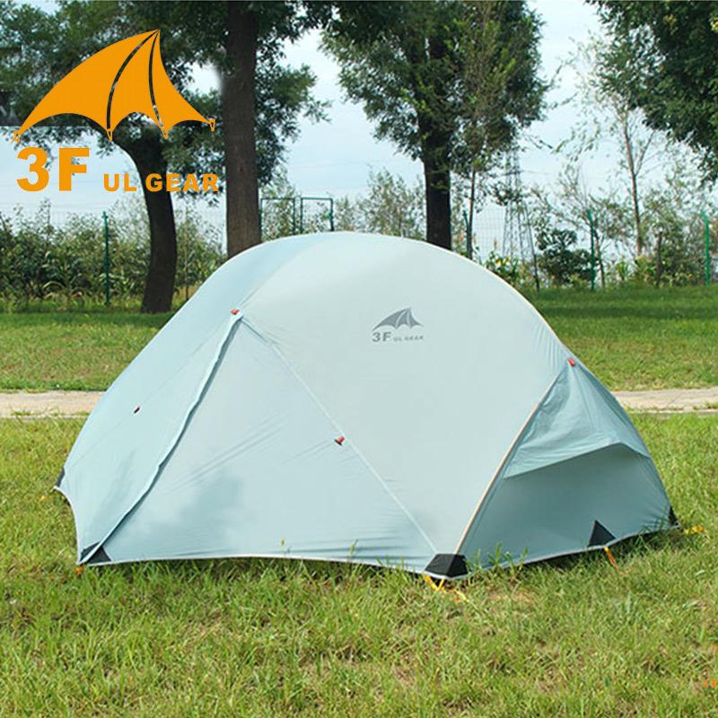 3f Ul Gear Outdoor Ultralight Camping Tent 15d Nylon 4 Season 2 Person Waterproof Winterized Tents Fishing Hunting Tenda Big Large