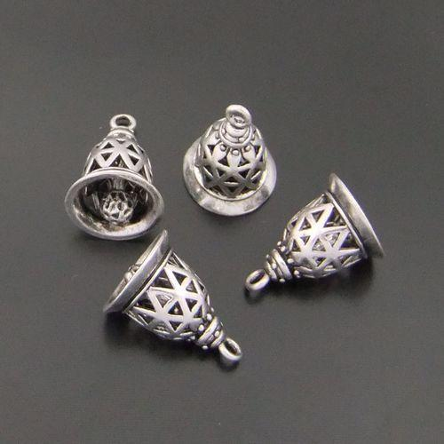 5PCS Antiqued Silver Zinc Alloy Ancient Bell Charms Pendants DIY Fit Necklace Bracelet Jewelry Making AU04092 jewelry making