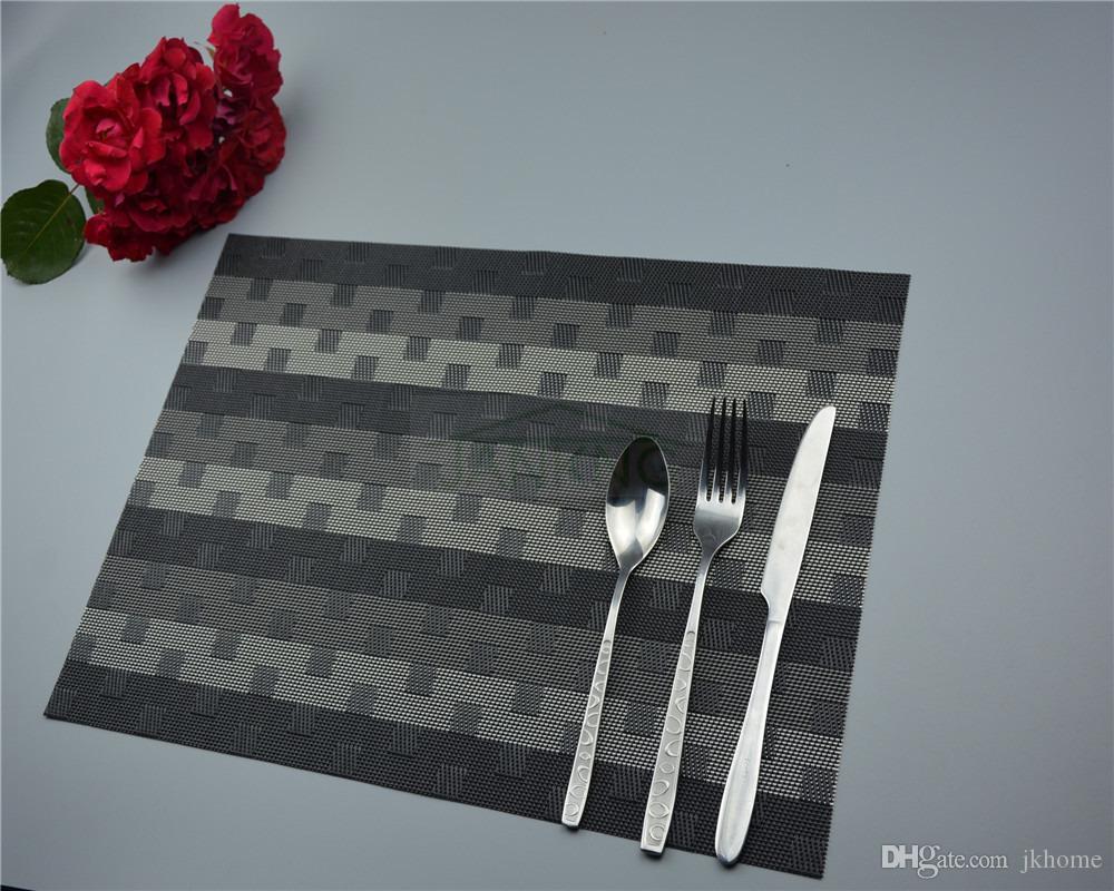 JANKNG 4 шт. / лот теплоизолированный стол коврик быстро сухой ПВХ Pad Placemat кухня посуда обеденный стол чаша блюдо Pad стол коврик бесплатная доставка