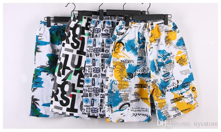 Hot mens shorts quick drying 2015 hot beach short Pants quick-dry Beach board shorts Mens swimwear men's Beach pants Mens Half-pants