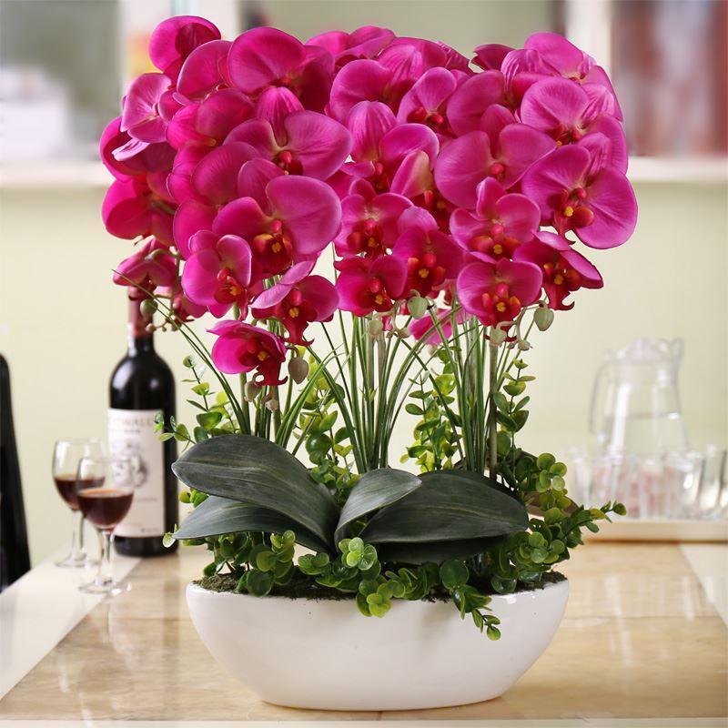 2017 High Simulation Flower Phalaenopsis Suite Living Room