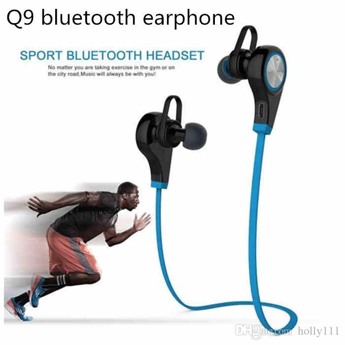 Auricolare Bluetooth Q9 Auricolare senza fili in-ear Sport con auricolari stereo Auricolari vivavoce tablet PC