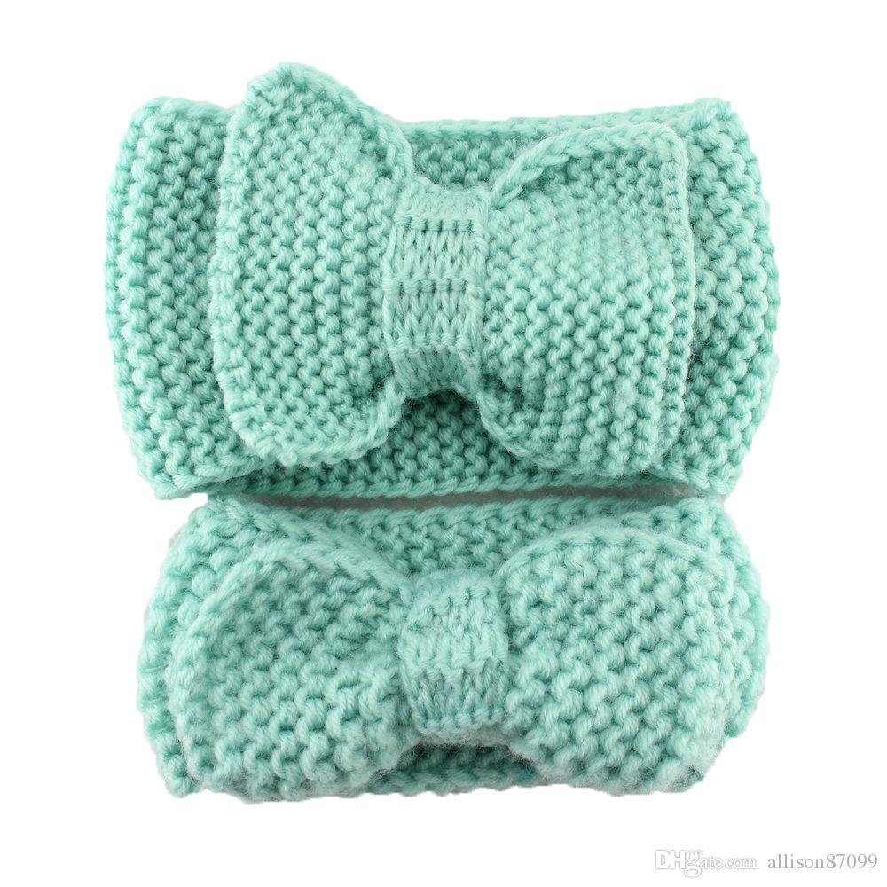 Bébé bandeau Bow cheveux accessoires laine fil weave artisanat Mère fille parent-enfant Femmes bandeau européenne 2016 ensemble