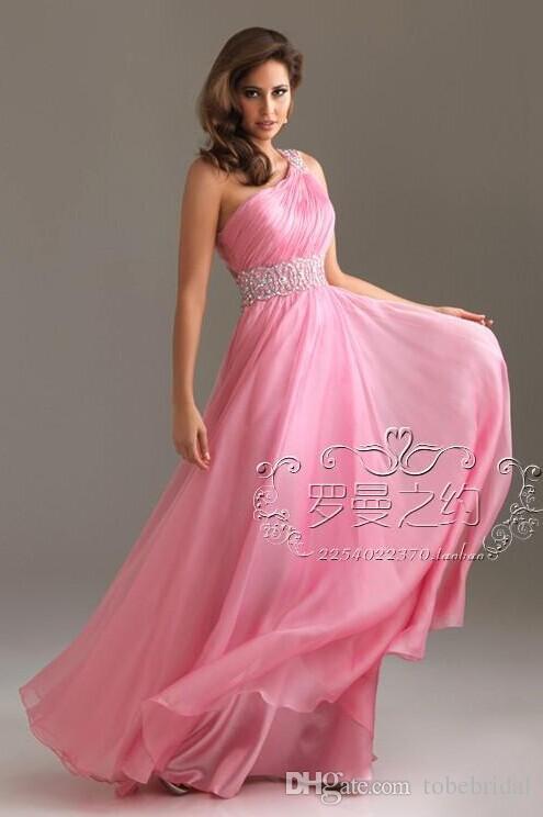 Compre En Stock Nuevos Vestidos De Noche De Color Rosa Los Mejores ...