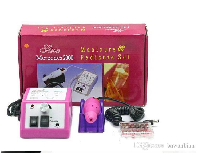 Máquina profesional de manicura con taladro eléctrico para uñas rosa con brocas 110v-240V enchufe de la UE Fácil de usar Envío gratuito