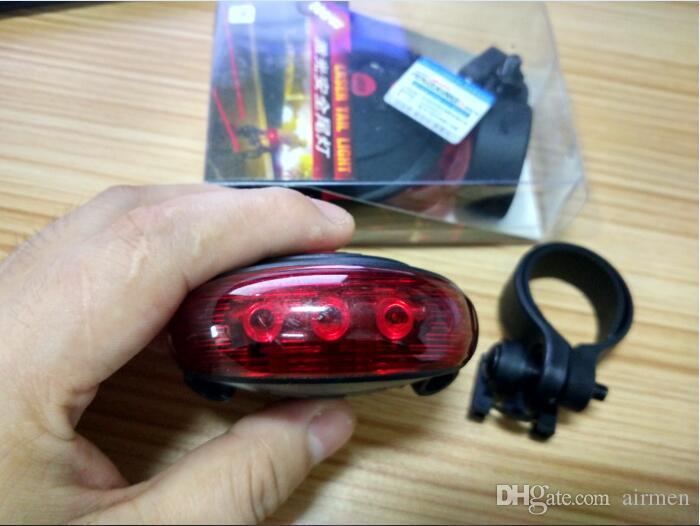 2016 Road Bicycle Laser Tail Light Bike Safety Back Rear LED Light Taillight with 5 LED & 2 Laser Launcher Blue/Red Light DHL