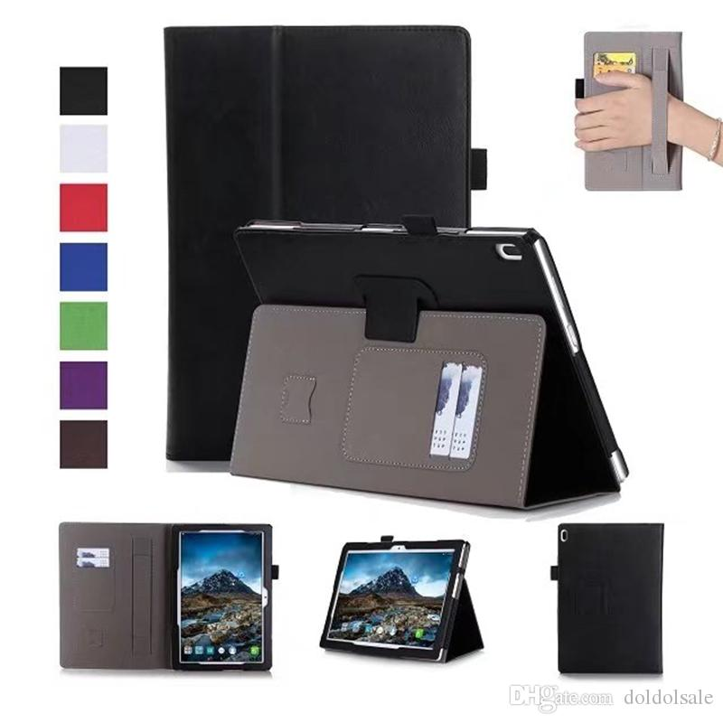 Luxury PU Leather Case Stand Cover for Lenovo TAB 4 10 TB-X304F TB-X304N TB-X304 Tablet with Card Slots Hand Strap + Free Gift
