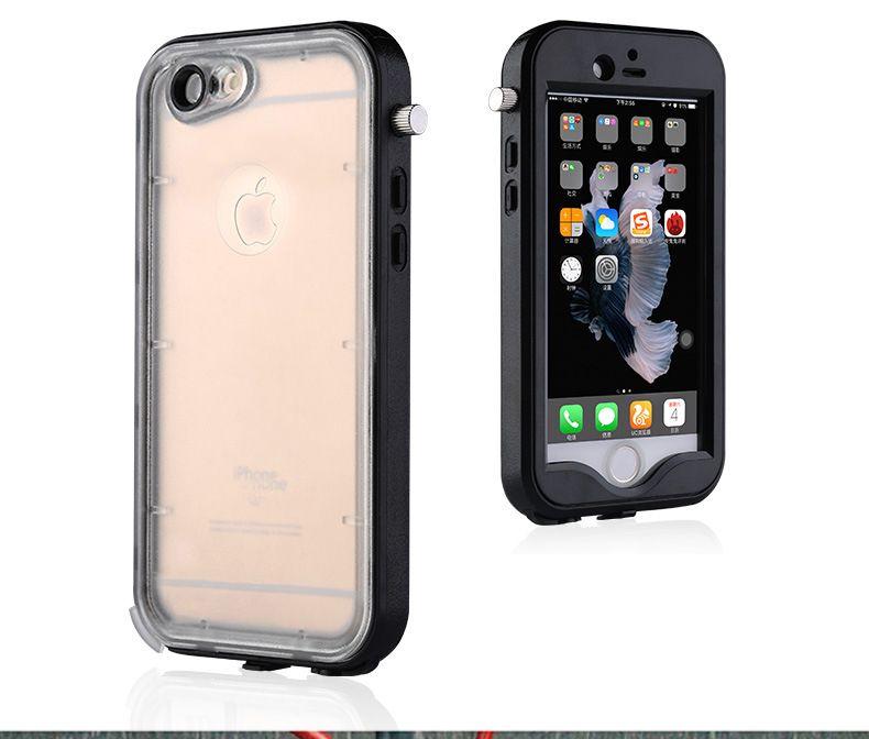421c6cbd5e0 Personalizar Fundas De Movil Funda Impermeable De Silicona + Pc Para Iphone  5 Se 6 6s Plus Con Lente Óptica Bolsa De Buceo Bolsa Impermeable A Prueba  De ...