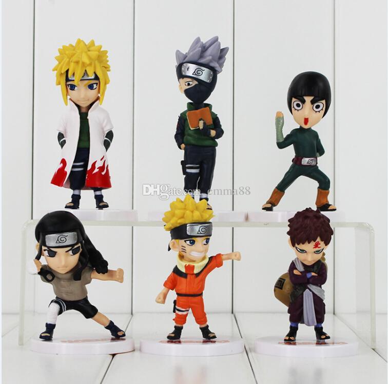 Hatake Collection Pour 6pcs Gratuite Action Jouet Pvc Naruto Uzumaki Livraison Figure Modèle Enfants Cadeau Namikaze Ems Kakashi Minato pUzMVqSG